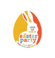 colorful easter party lettering vector image vector image