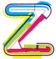 Colorful Grunge font Letter z vector image vector image