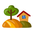 country house icon vector image vector image