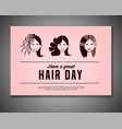 crazy hair day poster vector image vector image