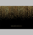 curtain golden particles on a black background vector image