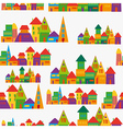 cute town pattern vector image