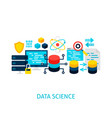 data science concept vector image vector image