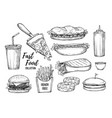 fast food background vector image vector image