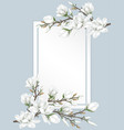 flower branches on paper vector image vector image