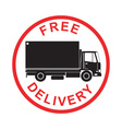Free Delivery Truck Retro vector image vector image