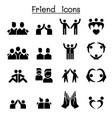 friendship friend icon set vector image vector image