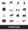 furniture types icons eps10 vector image vector image