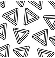 geometric seamless pattern with triangles memphis vector image