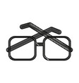 glasses square frame icon image vector image vector image