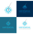 hair removal logo and icon vector image