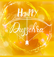 happy dussehra festival indian with bow vector image vector image