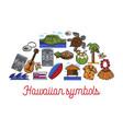 hawaiian symbols travel to hawaii traveling vector image