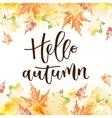 hello autumn hand written inscription vector image