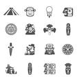 Maya Icons Black vector image vector image