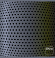 metallic background carbon sphere concept vector image