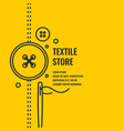 minimalistic linear poster for textile shop vector image
