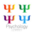 modern sign set of psychology psi creative style vector image vector image