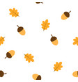 pattern with acorns and leaves vector image vector image