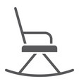 rocking chair glyph icon furniture and home vector image vector image