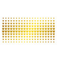 royal golden halftone pattern vector image