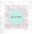 Seafood menu with hand drawn underwater pattern vector image vector image