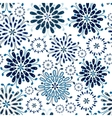 seamless pattern abstract floral vector image vector image