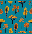 seamless pattern with different hand drawn autumn vector image vector image