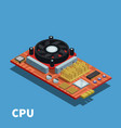 semiconductor isometric poster vector image vector image