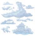 set clouds different shapes design elements vector image vector image