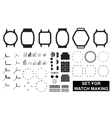 Set for watch making vector image vector image