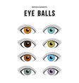 Set of neutral concept human eye vector image