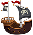 ShipPirate Ship vector image