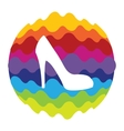 Shoes Rainbow Color Icon for Mobile Applications vector image vector image