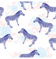sketch seamless pattern with wild animal zebra vector image