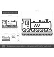 steam locomotive line icon vector image vector image