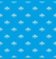 summer camping pattern seamless blue vector image