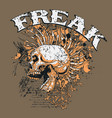 t-shirt and tattoo design template vector image vector image