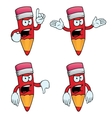 Very angry cartoon pencils set vector image vector image