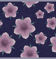 violet flowers seamless pattern shabby vector image vector image