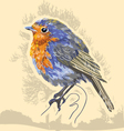 water color bird vector image vector image