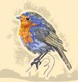 water color bird vector image vector image