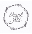 with THANK YOU hand lettering and vector image vector image