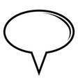 comic chat bubble vector image
