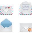 envelope icon set vector image