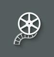 film roll design element vector image