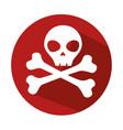 danger skull symbol icon vector image
