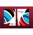 Abstract business annual report brochure cover vector image