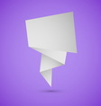 Abstract origami speech background on violet vector image vector image