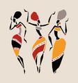 african beautiful women vector image vector image